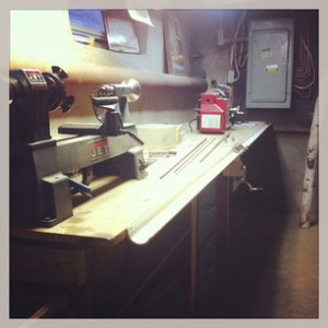 Lathe table and Wagner binder